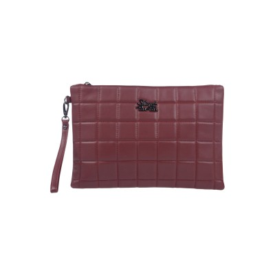 SECRET PON-PON ハンドバッグ ボルドー 紡績繊維 ハンドバッグ
