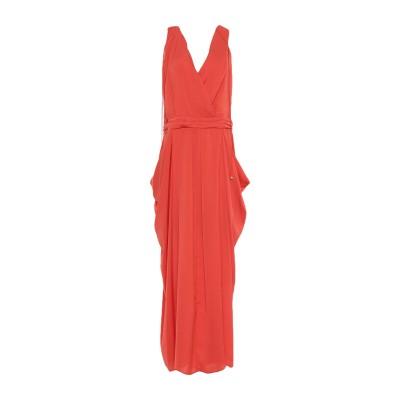 アンナリータ エンネ ANNARITA N ロングワンピース&ドレス オレンジ 46 ポリエステル 100% ロングワンピース&ドレス