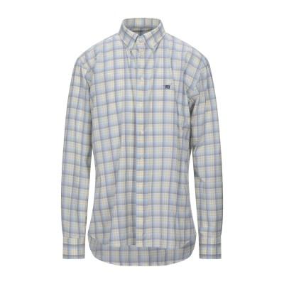 ヘンリー コットンズ HENRY COTTON'S シャツ グレー XXL コットン 100% シャツ
