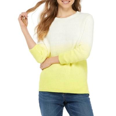 クラウン&アイビー レディース ニット・セーター アウター Women's Long Sleeve Dip Dyed Sweater