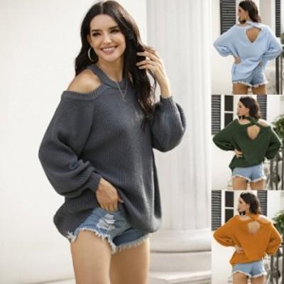 ニット セーター 大人可愛い 30代 40代 レディース 上品 ニットセーター 秋 春 長袖 カジュアル ゆったり