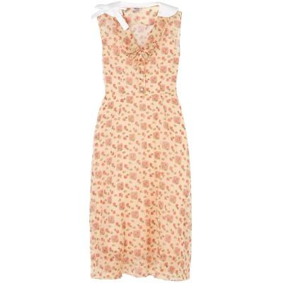 ミュウミュウ MIU MIU ロングワンピース&ドレス サンド 38 コットン 100% ロングワンピース&ドレス