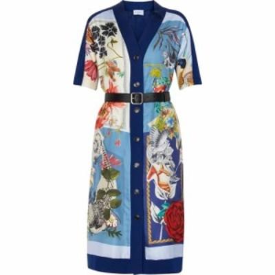 サルヴァトーレ フェラガモ Salvatore Ferragamo レディース ワンピース ミドル丈 ワンピース・ドレス Printed wool-blend midi dress Pa