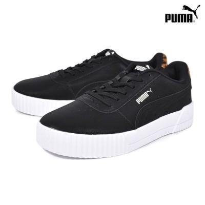 PUMA プーマ CARINA LEO キャリーナレオパード 373228-01 レディース シューズ 靴 スニーカー フェイクファー HX3 H21