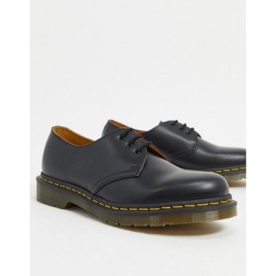 ドクターマーチン メンズ ドレスシューズ シューズ Dr Martens original 3-eye shoes in black Black