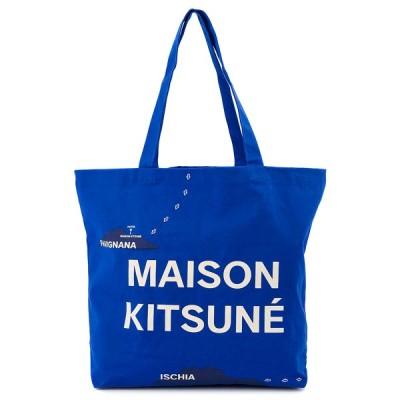 MAISON KITSUNE メゾンキツネ トートバッグ AU05101WW0007 レディース 鞄 かばん カバン BLUE PRINT ブルー