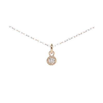 サマンサシルヴァ SAMANTHA SILVA シンプルダイヤモンドネックレス (K10 PG1)