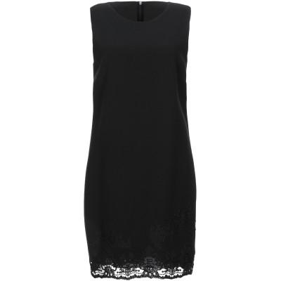 ERMANNO DI ERMANNO SCERVINO ミニワンピース&ドレス ブラック 40 レーヨン 70% / バージンウール 30% / コ