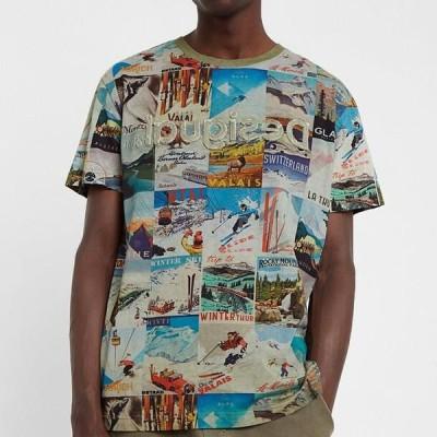 デシグアル メンズ ファッション TS_MAY - Print T-shirt - green