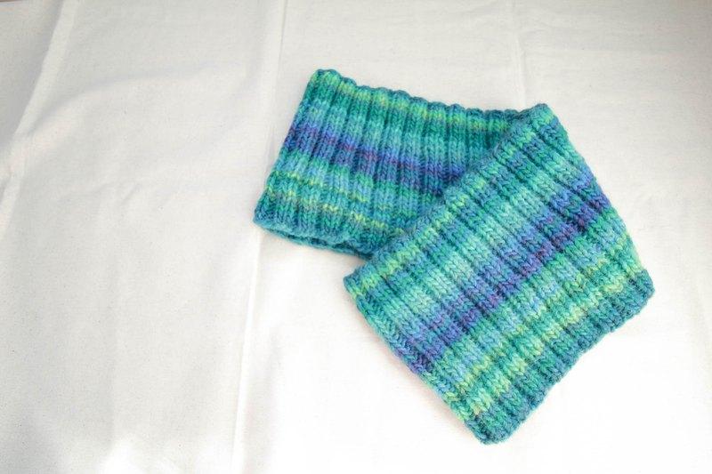 Araignee 漸層配色圍脖 / 藍綠色漸層圍巾 /優雅 氣質 亮麗