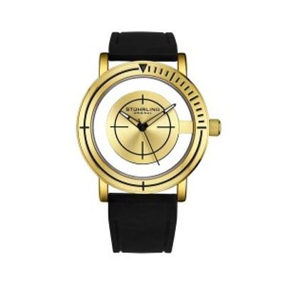 スターリング レディース 腕時計 アクセサリー Men's Black Silicone Strap Watch 42mm Black