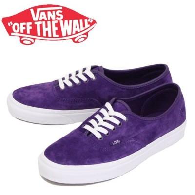 VANS (ヴァンズ バンズ) VN0A2Z5IT75 Authentic オーセンティック スニーカー (Pig Suede) Violet Indigo / True White VN147