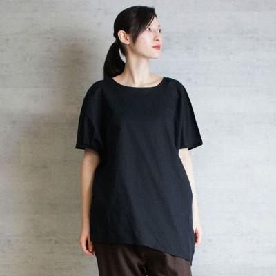 アットワン atONE ローンランダムシルエットノースリーブシャツ (BLACK)