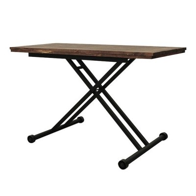ケルト 昇降テーブル 古木 リフティングテーブル ローテーブル 机 ダイニングテーブル