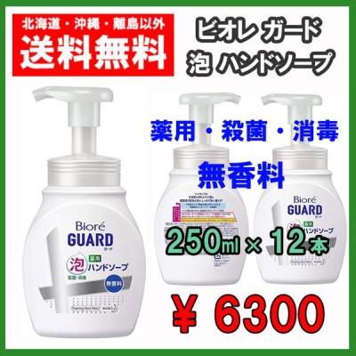 ビオレガード 泡ハンドソープ 250ml×12本 薬用 殺菌・消毒 花王 送料無料 お得なケース販売