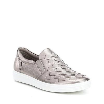 エコー レディース スニーカー シューズ Women's Soft 7 Woven Slip-On Sneakers