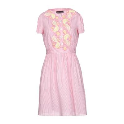 BOUTIQUE MOSCHINO ミニワンピース&ドレス ピンク 38 コットン 80% / シルク 20% ミニワンピース&ドレス