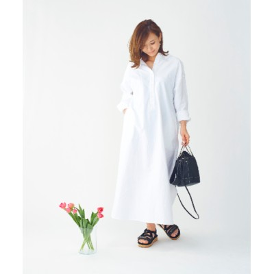 BLANC [6月末お届け予定]【BLANC】[BLANC]マキシ丈シャツワンピース ホワイト F