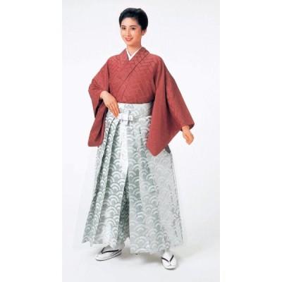 袴 メンズ レディース 馬乗り はかま 成人式 踊り 銀襴 袴 日本製 青海波