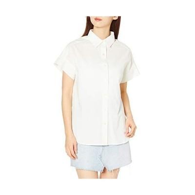 エーグル シャツ 公式 コットンリネン リラックスシルエットシャツ レディース ZCF014J ホワイト 日本 036 (日本サイズS相当)