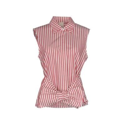 PINKO ストライプ柄シャツ  レディースファッション  トップス  シャツ、ブラウス  長袖 レッド
