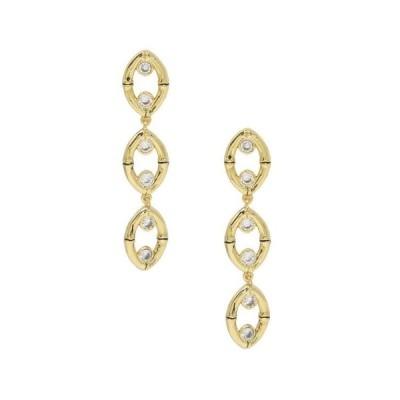 エティカ レディース ピアス・イヤリング アクセサリー Crystal and Gold - Tone Drop Earrings