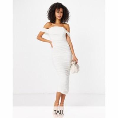ジェイデッドローズ Jaded Rose Tall レディース ワンピース ワンピース・ドレス exclusive drape midaxi dress in ivory アイボリー
