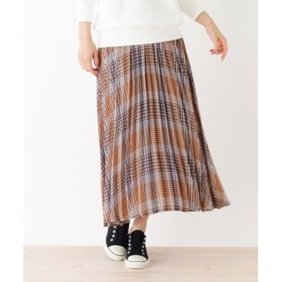 WORLD ONLINE STORE SELECT / 【WEB限定LLサイズあり】アコーディオンプリーツ チェックスカート WOMEN スカート > スカート