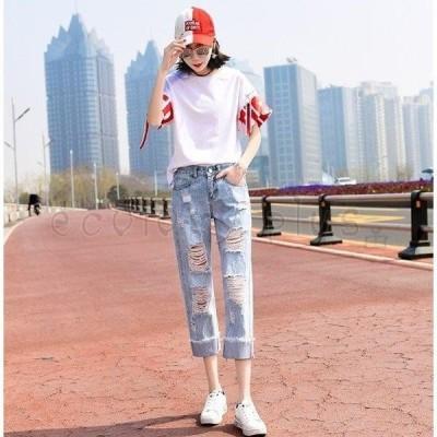 デニム レディース ボトムス ジーパン ファッション 女性 新作 ウーマン パンツ ジーンズ 002