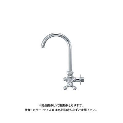 カクダイ 横形スワン水栓 7080F-13