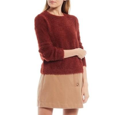 ジービー レディース パーカー・スウェット アウター Eyelash Long Sleeve Round Neck Sweater