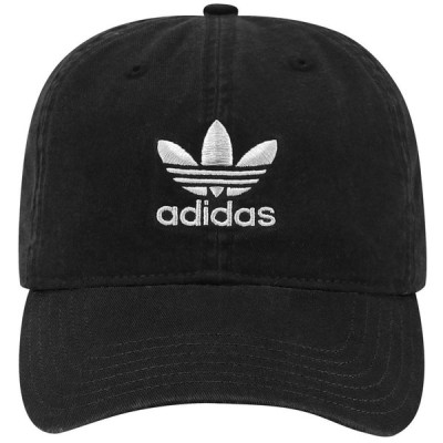 アディダス adidas Originals メンズ キャップ 帽子 washed relaxed strapback Black/White