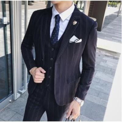 2点セット ジャケット&ズボン 面接 2色入 紳士 二次会 披露宴 スリムスーツ ビジネス 韓国風 セットアップスーツ 宴会 セレモニー フォ