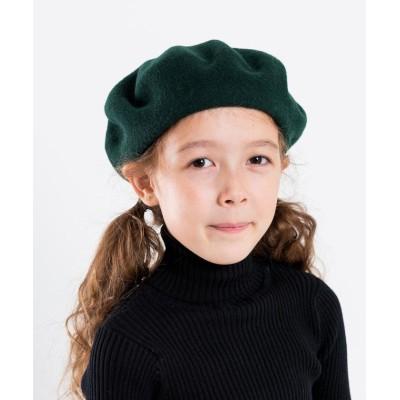 (SHIPS KIDS/シップスキッズ)BARET:ベレー帽/ ダークグリーン