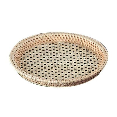 籐 丸皿カゴ 33-164 φ200×H25