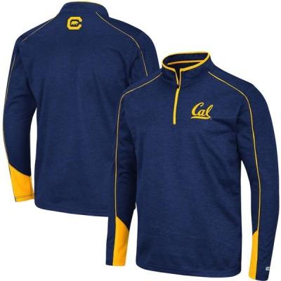 """メンズ ジャケット """"Cal Bears"""" Colosseum Aldrin Quarter-Zip Jacket - Navy"""