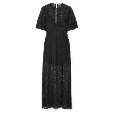 LES RÊVERIES ロングワンピース&ドレス ブラック 6 ナイロン 100% ロングワンピース&ドレス
