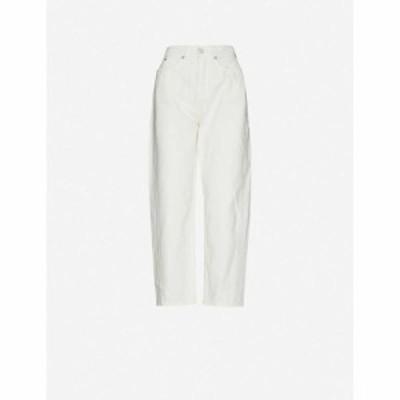 ホイッスルズ WHISTLES レディース ジーンズ・デニム ボトムス・パンツ Barrel-leg high-rise denim jeans WHITE