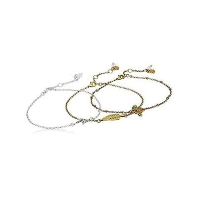 Lucky Brand Cactus Pave Bracelet Set, Two Tone【並行輸入品】
