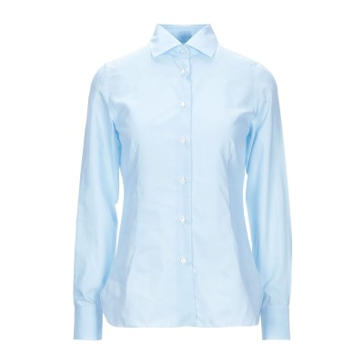 BARBA Napoli シャツ スカイブルー 40 コットン 75% / シルク 25% シャツ
