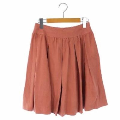 【中古】アナイ ANAYI フレアスカート ひざ丈 36 ピンク /KN レディース