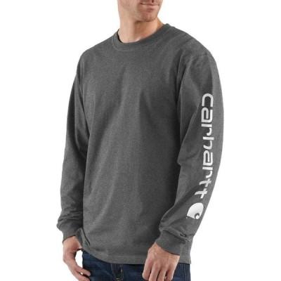 カーハート CARHARTT メンズ 長袖Tシャツ ロゴTシャツ トップス Long-Sleeve Graphic Logo Tee CRH CARBON HEATHER