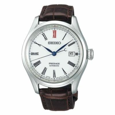 セイコー 腕時計 Seiko SPB095J1 Presage プレザージュ Automatic Arita Porcelain Dial Brown Leather メンズ Watch
