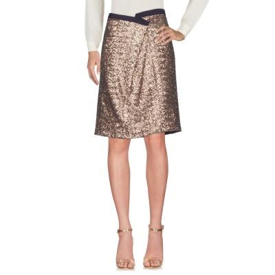 ANTONIO MARRAS ひざ丈スカート ブロンズ 44 ポリエステル 80% / シルク 15% / ナイロン 4% / ポリウレタン 1%