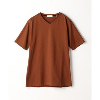 【トゥモローランド】 スヴィンジャージー VネックTシャツ メンズ 47ブラウン S TOMORROWLAND