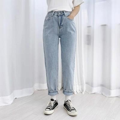 BULLANG GIRL レディース ジーンズ Baggy Fit Back Banding Denim Pants