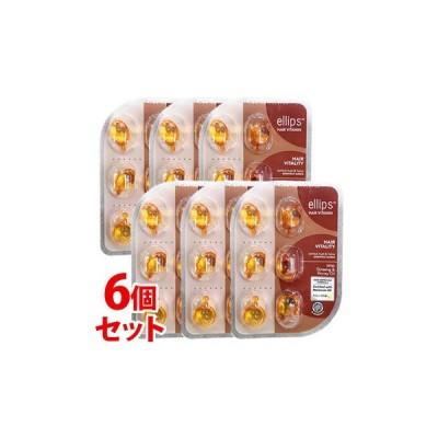 《セット販売》 エリップス ヘアーオイル ヘアーエッセンス ハニー&キャロットの香り (6粒)×6個セット 洗い流さないトリートメント