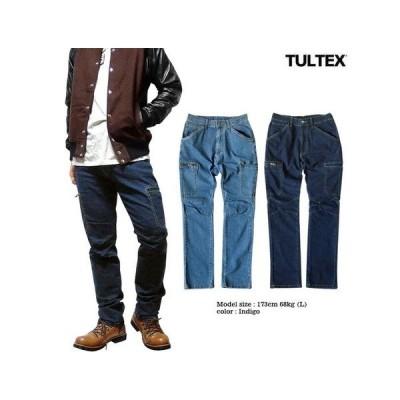 カーゴパンツロング丈 パンツ デニム カーゴ 撥水加工で雨水を弾く立体裁断&ストレッチ素材で穿き易い「TULTEX」の