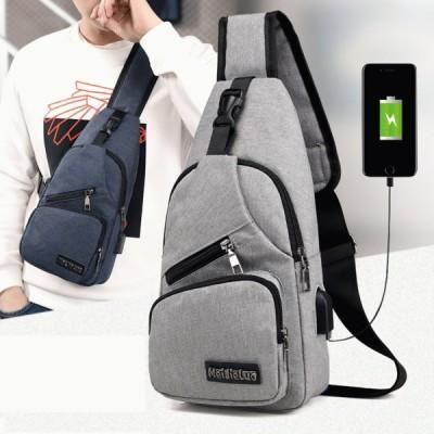 クロスボディバッグ ワンショルダー メッセンジャー 通勤 通学 旅行 USBポート 充電