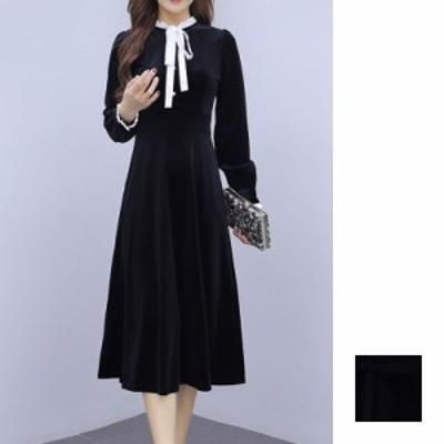 韓国 ファッション レディース ワンピース パーティードレス ロング マキシ 秋 冬 春 パーティー ブライダル naloI304 結婚式 お呼ばれド